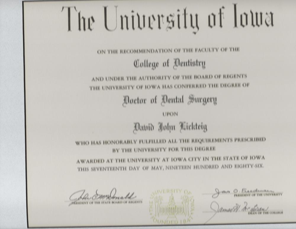 dr dave diploma