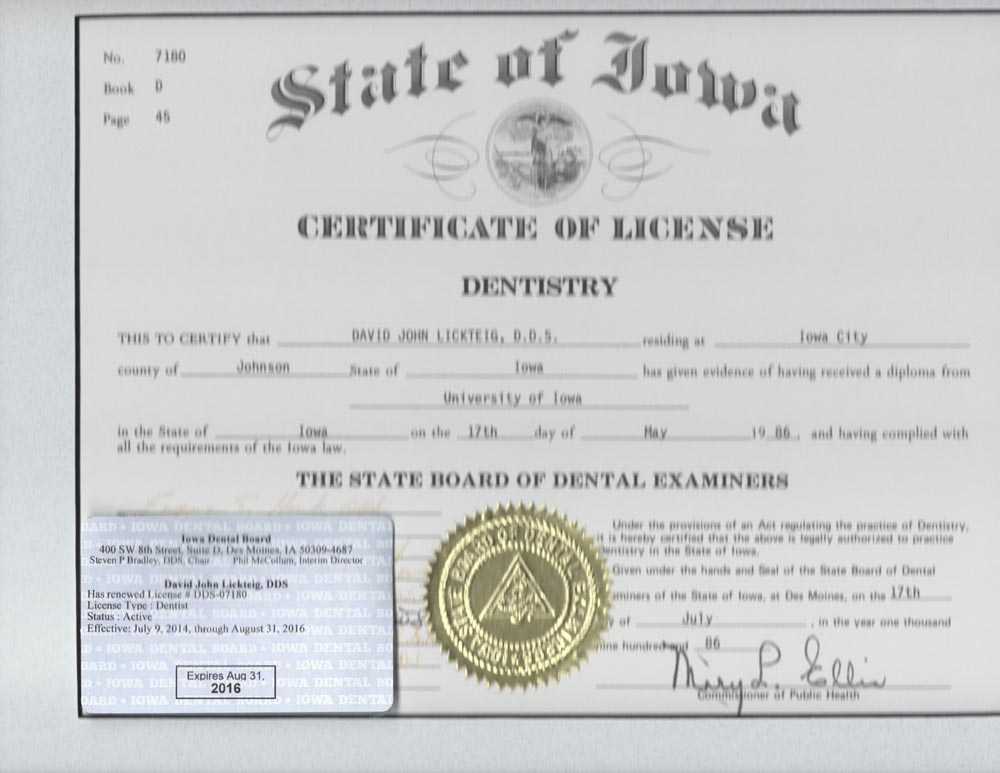 dr dave license