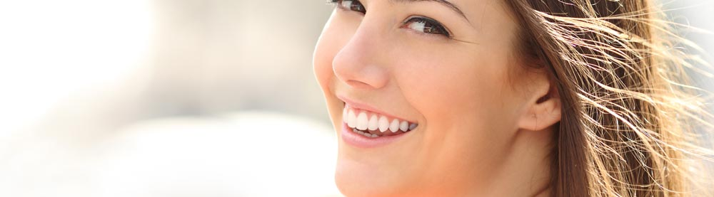 Girl smiling with white teeth